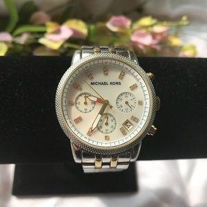Michael Kors diamond embellished watch